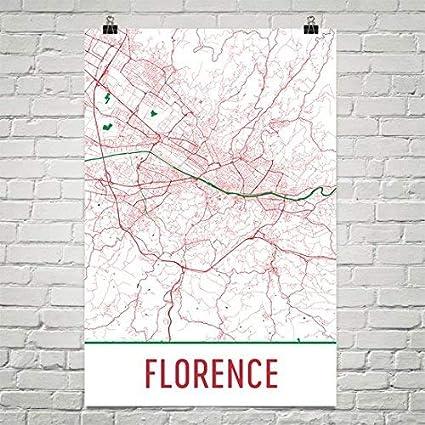 Modern Map Of Italy.Amazon Com Modern Map Art Florence Poster Florence Art Print