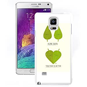 New Pupular And Unique Designed Case For Samsung Note 4 With Together Is Better White Phone Case