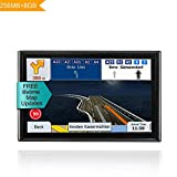 LONGRUF 7-inch GPS Navigation System Built in 8G Memory,Spoken Turn-By-Turn Directions Car GPS Navigation for Car with Lifetime Maps