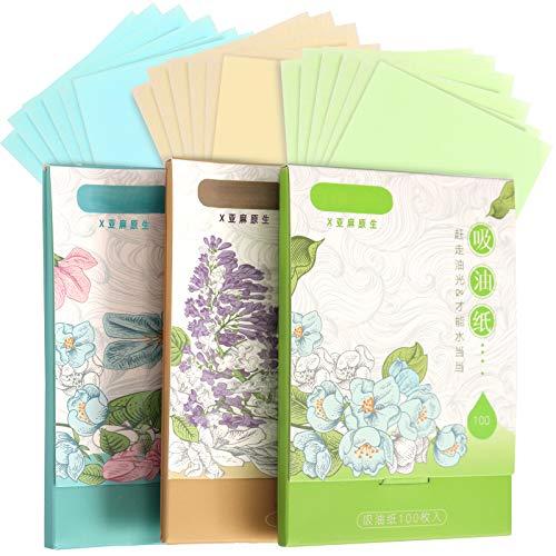 300 Sheets Oil Absorbing Tissues, HNYYZL 3 Pack Premium Oil Blotting Paper Sheets, Translucent, Soft Face Blotting Paper…