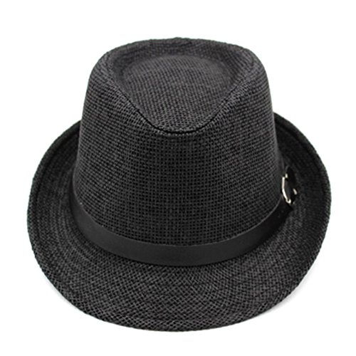 Korean version of outdoor sun hat/Couple Cap/British men and women casual sun hat/Jazz hats/ Tide spring and summer straw hat-E One Size