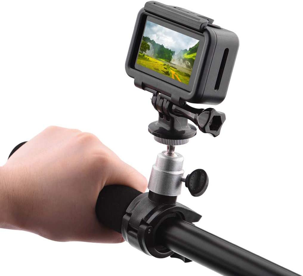 zzpp Black Bicycle Motorcycle Bracket Mount Holder Support for DJI Osmo Action Sports Camera Extension Accessories