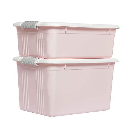 MYQ Caja de Almacenamiento, 2 Piezas Ropa de plástico Snacks ...