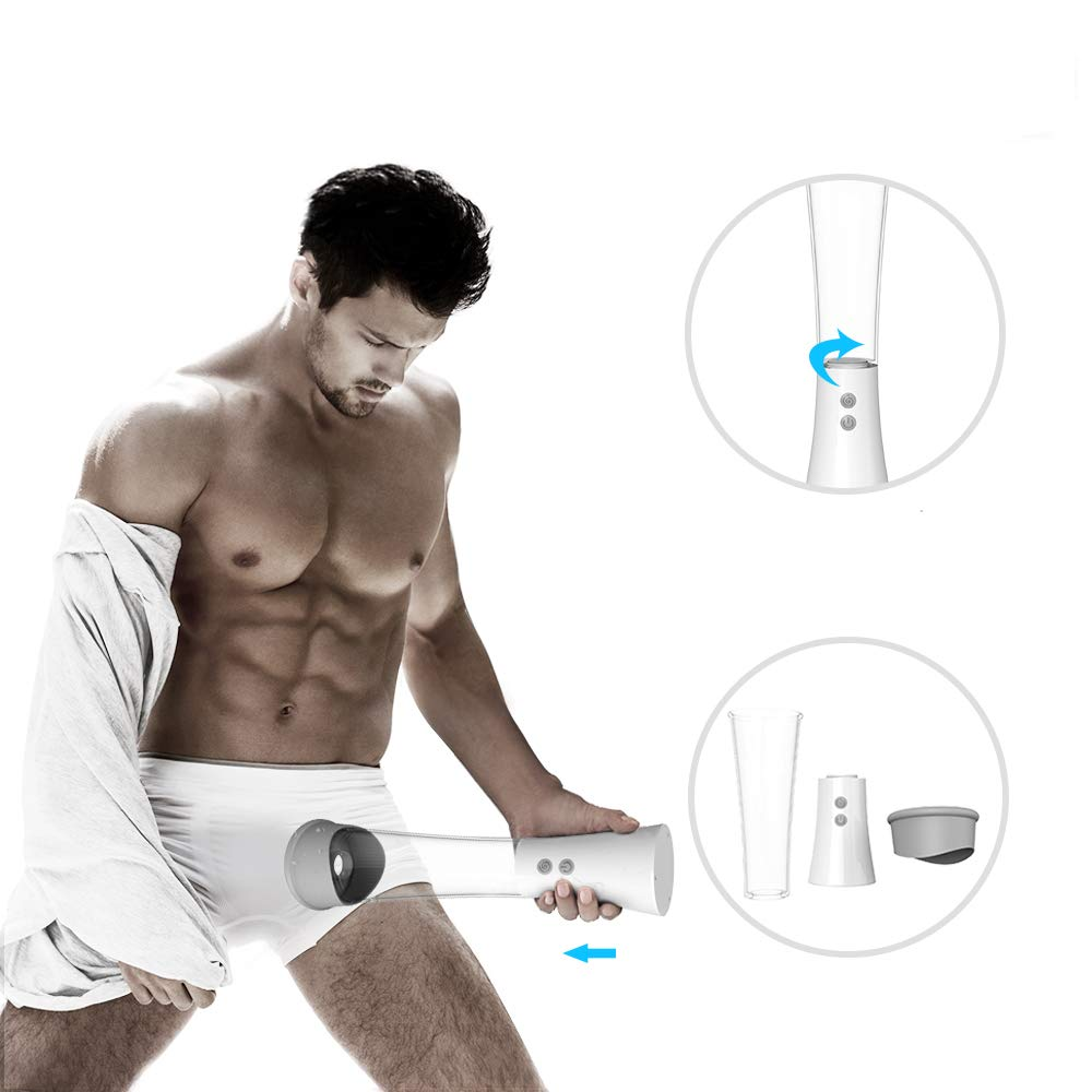 Automatic Vacuum Pump Cup for Men 9 Multi Vibration Modes Electric Relax Massager for Man