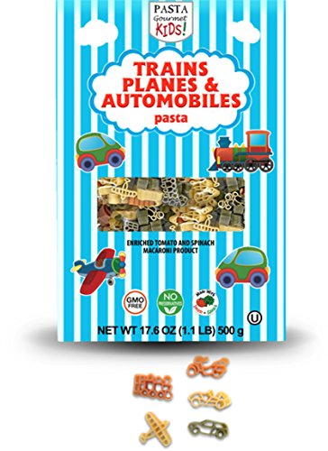 PASTA GOURMET KIDS! Pasta, Trains/Planes/Automobiles, 17.6 Ounce (Pack of 6)