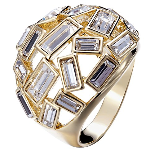 (FAPPAC Bold Statement Ring Enriched with Swarovski Crystals - 7)