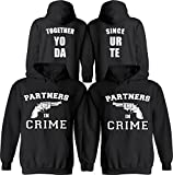 Partners in Crime [Personalized] Together Since [Your Date] - Matching Couple Hoodies - His and Her Love Sweaters