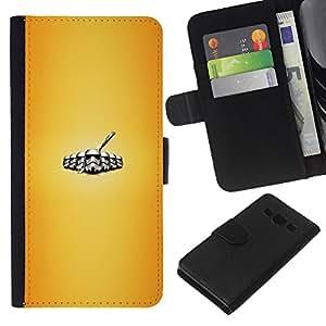 YiPhone /// Tirón de la caja Cartera de cuero con ranuras para tarjetas - Stromtrooper Legión - Samsung Galaxy A3