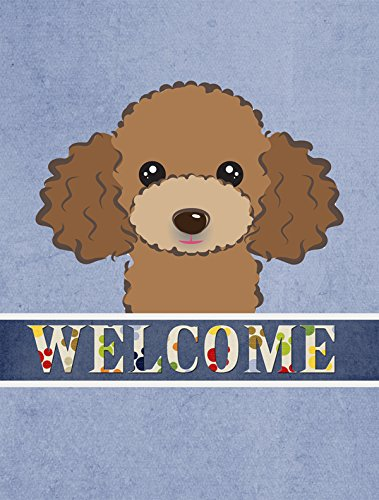 Caroline's Treasures BB1442CHF Chocolate Brown Poodle Welcome Flag Canvas, Large, Multicolor from Caroline's Treasures