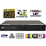 LG BP350 Wi-Fi Reproductor de Blu-ray Disc Multi System Region Code Free Blu Ray Disc DVD Player - PAL/NTSC - USB - 100-240V 50/60Hz for World-Wide Use & 6 Feet HDMI Cable