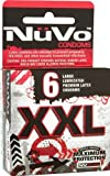 Nuvo Condoms XXL Large Lubricated Condoms, 6-count (Pack of 4)
