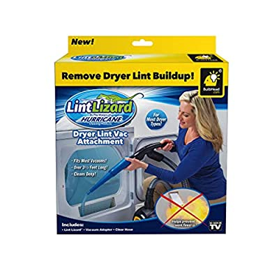 Hurricane Official As Seen On TV Lint Lizard Vacuum Hose Attachment by BulbHead, Removes Lint from Your Dryer Vent, Power Clean Behind Appliance