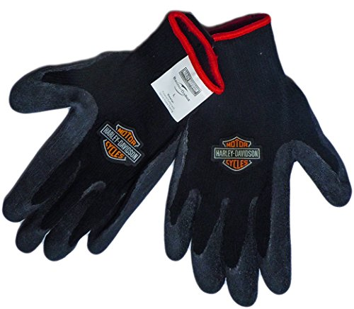 Harley-Davidson Rubber Knit Gloves (Large) ()