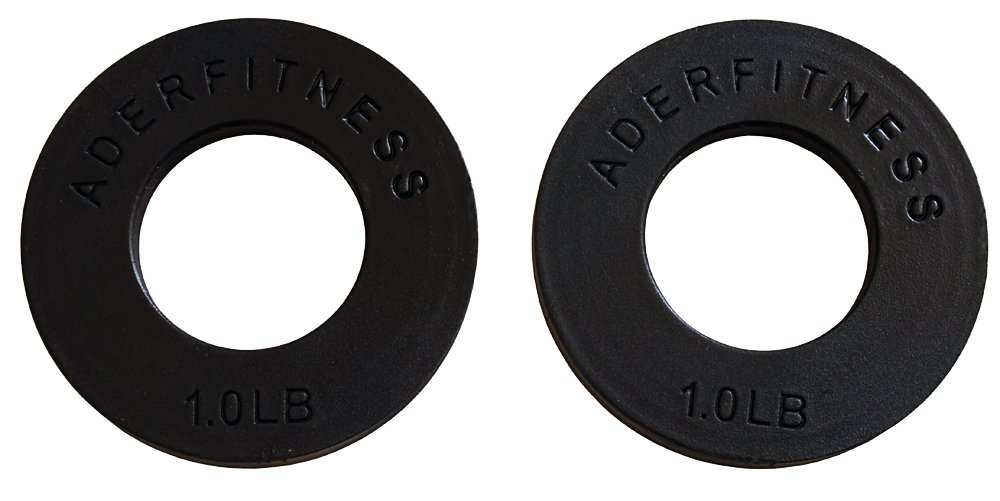 Olympic Fractional Plates Pair- 1 Lb Each Black