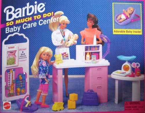 B000PGWF4I Barbie So Much To Do Baby Care Center Playset (1995 Arcotoys, Mattel) 51VB66fdCkL.