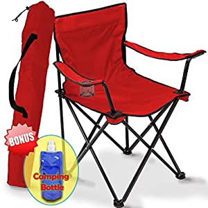 Folding camping chair portable carry bag for storage and travel best durable - Comfortable chairs small spaces property ...