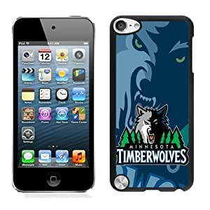 New Custom Design Cover Case For iPod Touch 5th Generation Minnesota Timberwolves 1 Black Phone Case