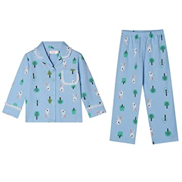 0c710c857392 Nightgowns Pajama Children s Blue Pajamas for Spring and Autumn Girls   Long-Sleeve Nightwear Two