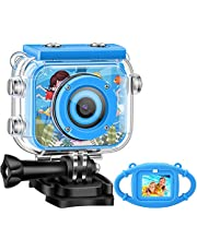 Kids Camera,Gofunly Waterproof Action Video Digital Camera,Underwater Sports HD Camcorder for Boys Girls with 1080P 12MP 2.0 Inch Large Screen,32GB Memary Card,Card Reader