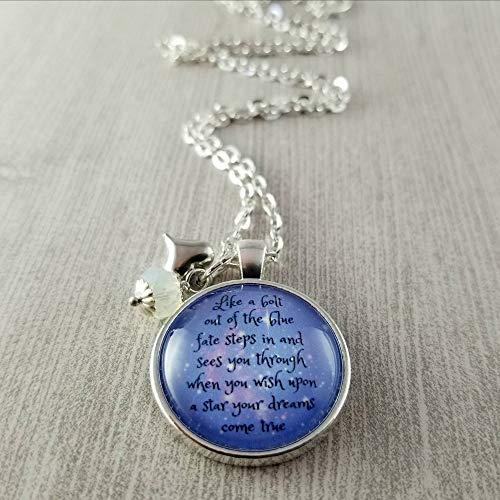 Jiminy Cricket Song Necklace Glass Pendant Free Gift Box When