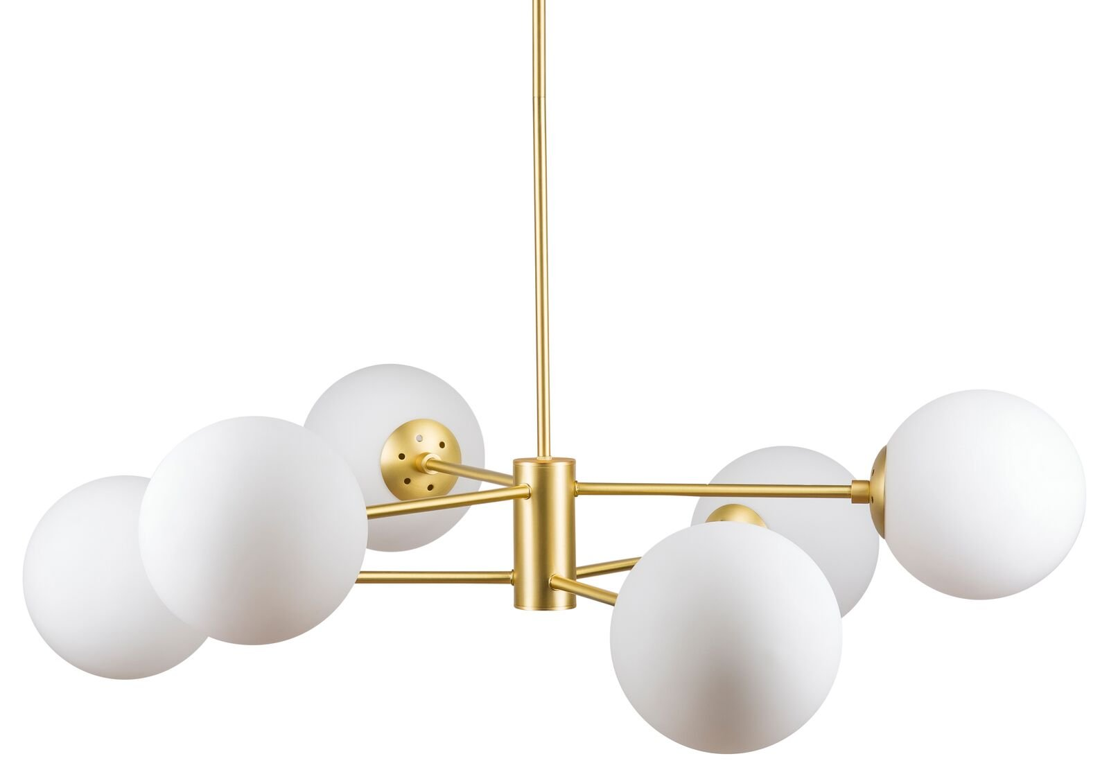 Caserti Mid Century Modern 6 Light Chandelier | Satin Brass Pendant Lighting LL-CH319-3SB - Ideal as kitchen island lighting, a dining room chandelier or as a living room hanging light the Caserti 6 light globe chandelier is perfect for any modern home decor The solid metal construction with a smooth satin brass finish is perfect for mid century, retro or industrial pendant lighting Uses six E26-base bulbs, 60W max (not included); dimmable when used with dimmable bulbs and compatible dimmer switch. Works with most medium base bulbs up to 60W, compatible with smart bulbs - kitchen-dining-room-decor, kitchen-dining-room, chandeliers-lighting - 51VB73a2JZL -