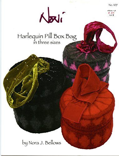 Noni Bags Felted Purse (Harlequin Pill Box Bag in Three Sizes - Noni Knitting Pattern #109 - Nora J. Bellows)