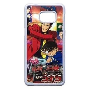Lupin The 3Rd Vs. Detective Conan plastic funda Samsung Galaxy S6 Edge Plus cell phone case funda white cell phone case funda cover ALILIZHIA14997
