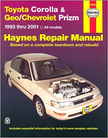 Toyota corolla geochevrolet prizm 1993 2001 haynes automotive toyota corolla geochevrolet prizm 1993 2001 haynes automotive repair manual jay storer john h haynes 9781563923951 amazon books fandeluxe Image collections