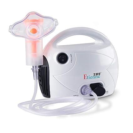 Compresor Nebulizador Blanco Máquina Kits Para Casa Usar, Nebulizador Repuestos Incluyendo Tubo, Máscara Para