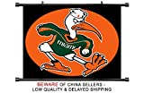 Miami Hurricanes NCAA Fabric Wall Scroll Poster (32 x 24) Inches