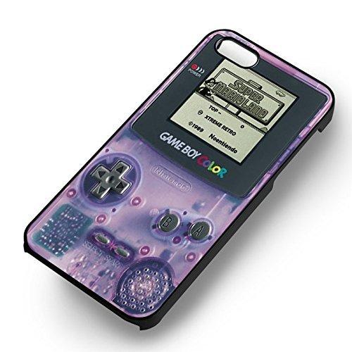 Purple Retro Nintendo pour Coque Iphone 6 et Coque Iphone 6s Case (Noir Boîtier en plastique dur) G7M5SM