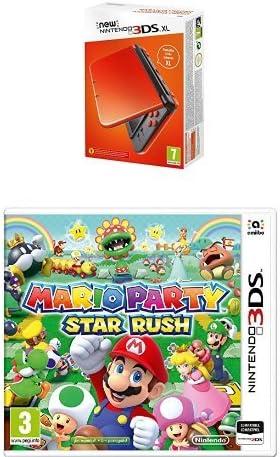 New Nintendo 3DS XL Color Naranja + Mario Party Star Rush: Amazon ...