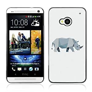 Designer Depo Hard Protection Case for HTC One M7 / Cool Polygon Animal