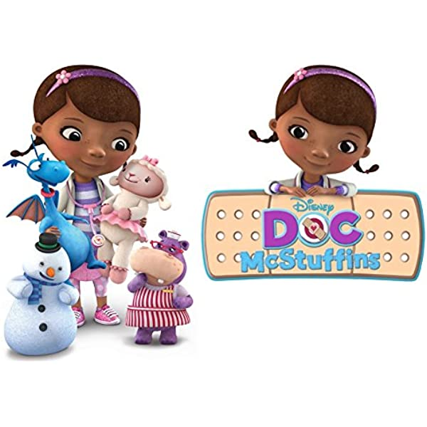 DOC McSTUFFINS STICKER WALL DECAL OR IRON ON TRANSFER T-SHIRT FABRICS LOT DS
