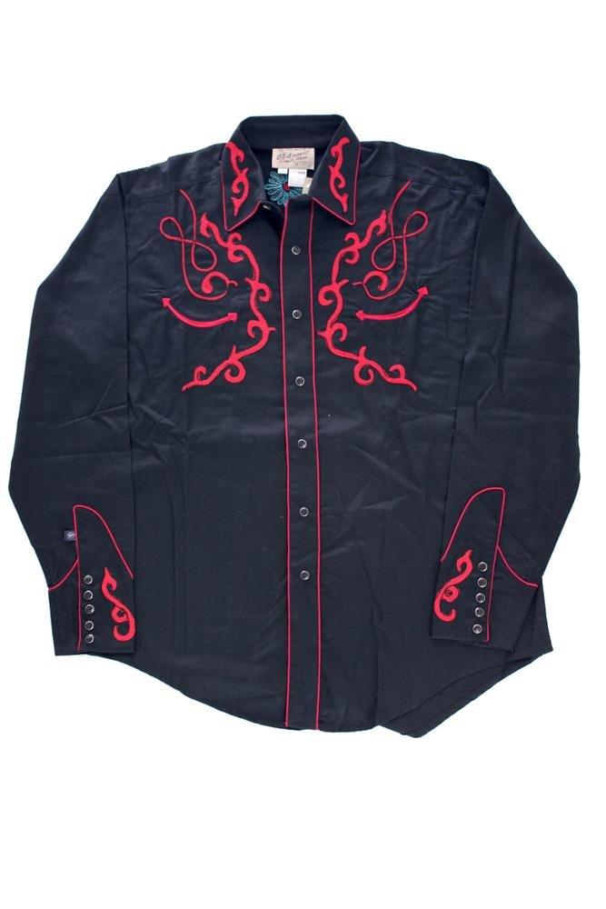 Rockmount Vintage Sugar Skull Embroidered Western Shirt Black 6720-BLK-Black-L