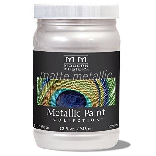 Modern Masters MM705 Matte Metallic Paint, Oyster, Quart by Modern Masters
