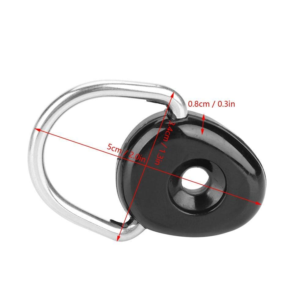 FHelectronic 6 Pieces D Ring Outfitting Fishing Rigging Bungee Kit Fitting Canoe Kayak Accessories