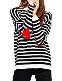 Image result for PERSUN Women's Stripes Number Printed Long Sleeve Loose Pullover Top
