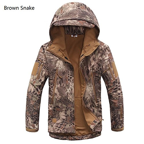 Cravog Parka Uomo Brown Snake Giacca 7XWWBTaqUf