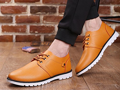 Aisun Mens Scarpe Da Lavoro Oxford Business Traspirante Oxford Kaki 2