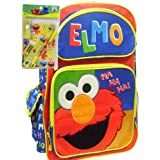 Elmo School Backpack and Yellow Stationery Set by Animations