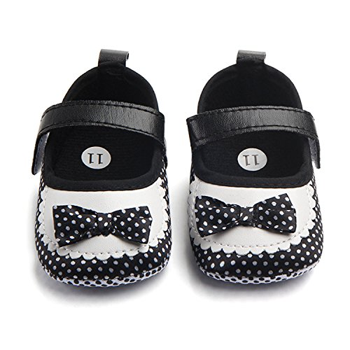 M2cbridge Baby Girl's Bow Dress Shoe Infant Toddler Pre-walker Crib Shoe (0-6 Months, Polka Dot) - Image 6