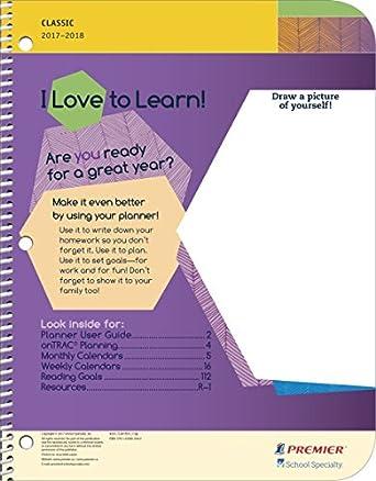 classic primary school student planner 8 x 10
