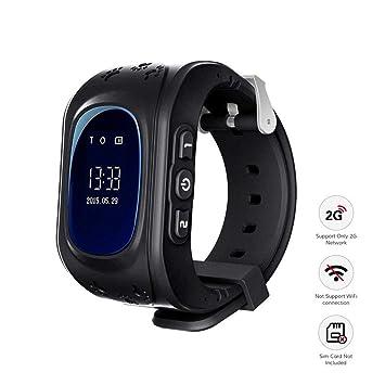 Reloj Inteligente niño, Telefono Reloj Inteligente niña Smart Watch Phone LBS/GPS localizador SOS Anti-Lost Alarm Smartwatch Reloj de Pulsera