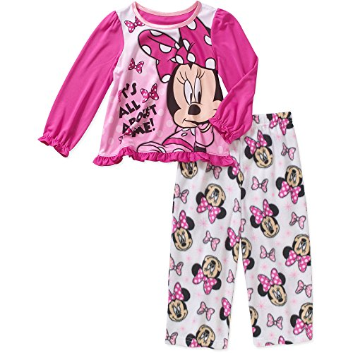 Chip And Dale Toddler Costumes (Disney Minnie Toddler Girls 2 Piece Long Sleeve Top & Fleece Pants Pajama (4T))