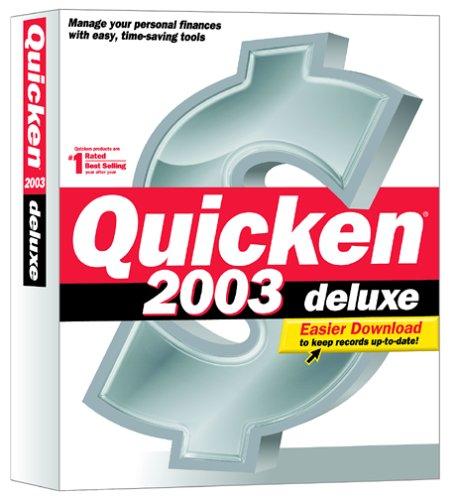 Quicken 2003 Deluxe OLD VERSION
