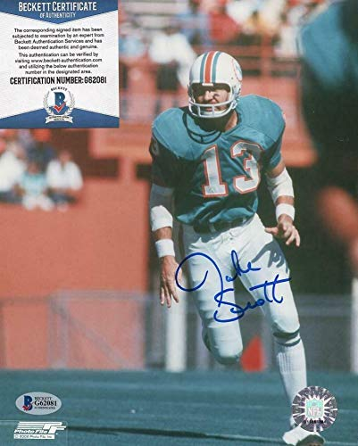 - Jake Scott Miami Dolphins Autographed Signed Memorabilia 8x10 Photo - Beckett Authentic