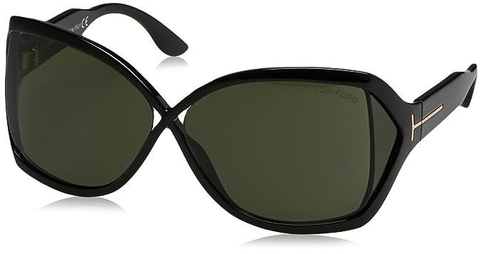 8d840b74d1 Amazon.com  Tom Ford 01N Black Julianne Butterfly Sunglasses  Tom ...