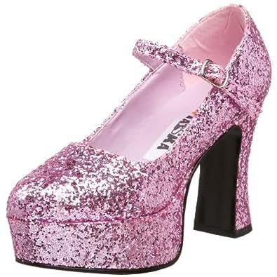 Funtasma by Pleaser Women's Maryjane-50G Pump,Baby Pink Glitter,6 M