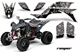 Yamaha YFZ 450 2004-2013 ATV All Terrain Vehicle AMR Racing Graphic Kit Decal REAPER SILVER